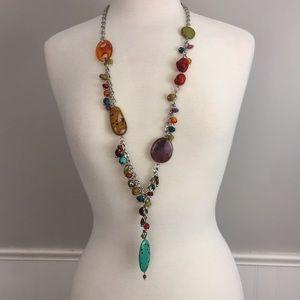 Multicolored Beaded Necklace Boho